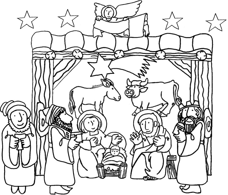 Jesus Birth Coloring Pages Birth Of Jesus Coloring Page