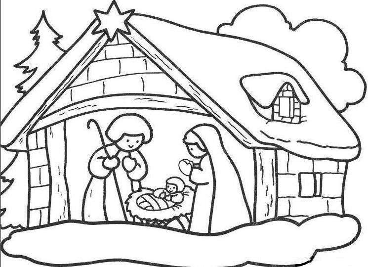 birth of jesus coloring page - story of jesus birth coloring pages coloring pages
