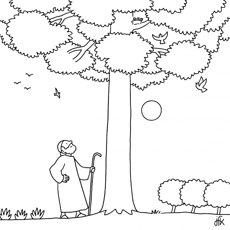 Coloring Page Fig Tree. 1 the parable of budding fig tree A Par bola da Figueira biblekids