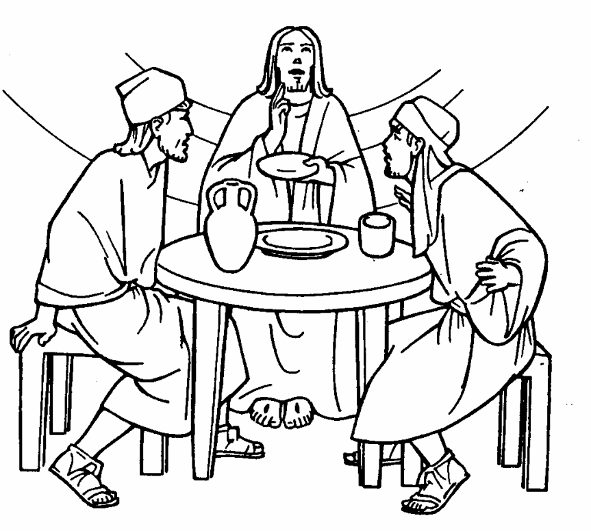 On The Road To Emmaus Coloring Pages