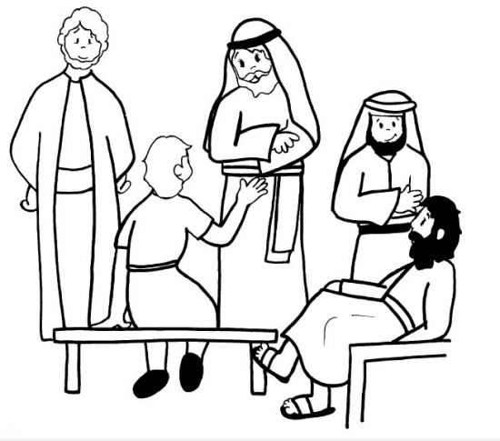Coloring Pages Jesus Temple