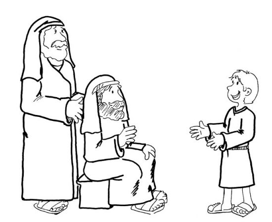 Bible coloring pages on obedience sketch coloring page for Jesus as a boy in the temple coloring page