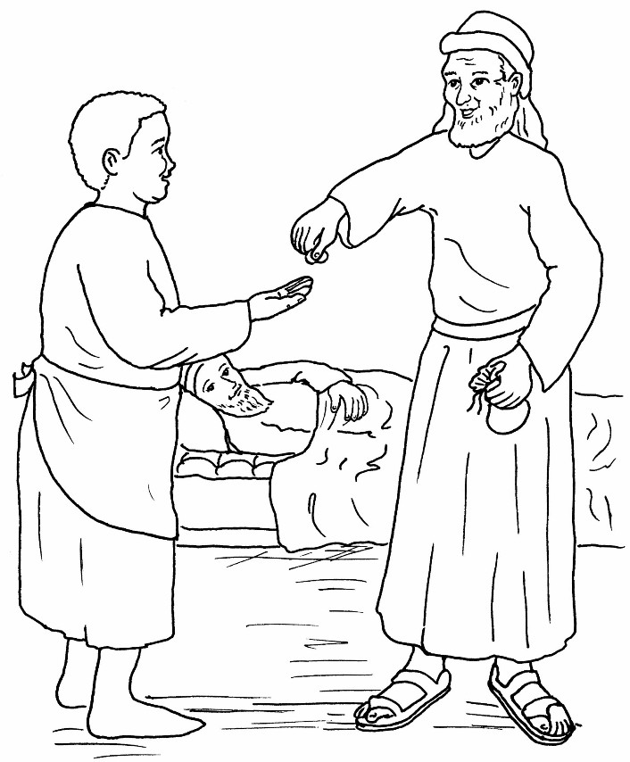 Free Coloring Pages Of The Parable Of The Good Samaritan