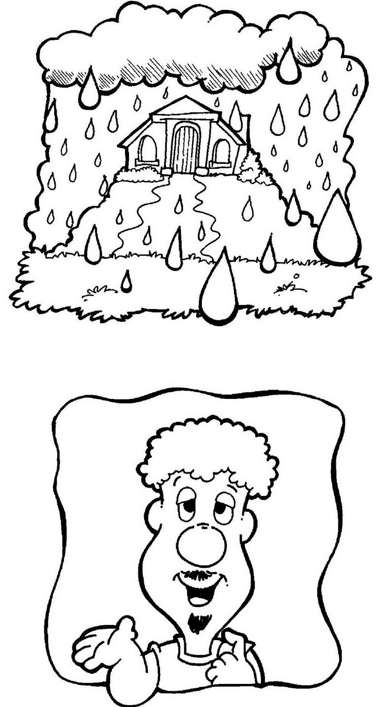 House Built On Rock Coloring Page Coloring Pages Rock Coloring Pages