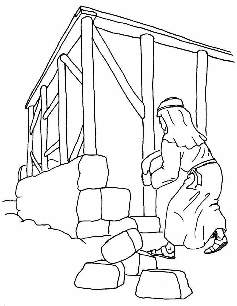 free wise man built his house coloring pages