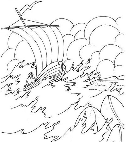 Coloring Pages For Jesus Calms The Storm : Jesus Calms the Storm Calming the storm Builders