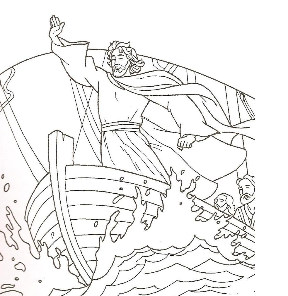Free Coloring Pages Of Jesus Sleeping In Boat