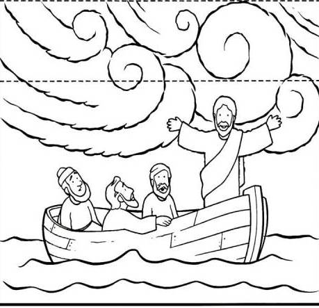 Current image throughout jesus calms the storm printable