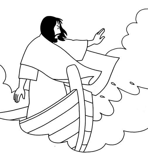 Jesus Calms The Water Coloring Page Pictures To Pin On