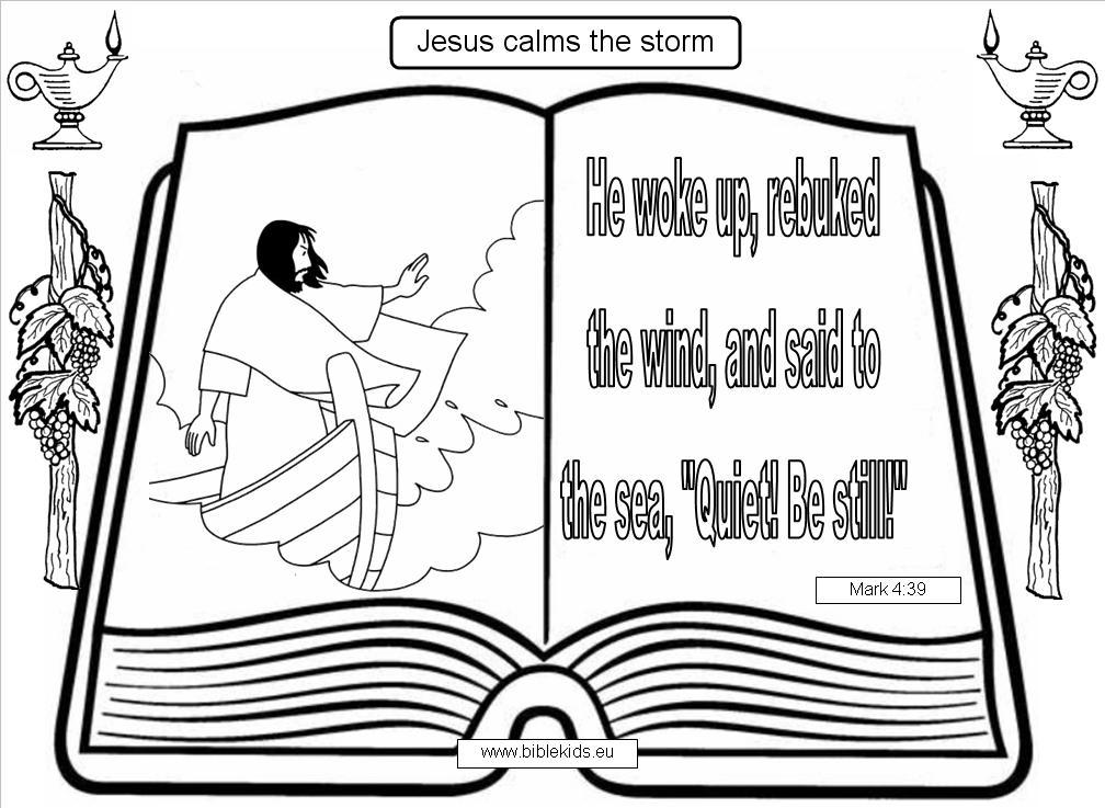 Free Jesus Calms The Storm Coloring Pages