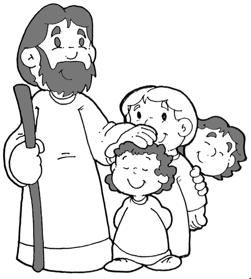 Coloring Pages For Jesus The Children