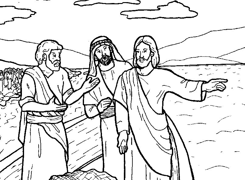 desciples of jesus coloring pages - photo#25