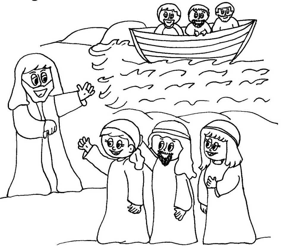 jesus disciples coloring pages - photo#6