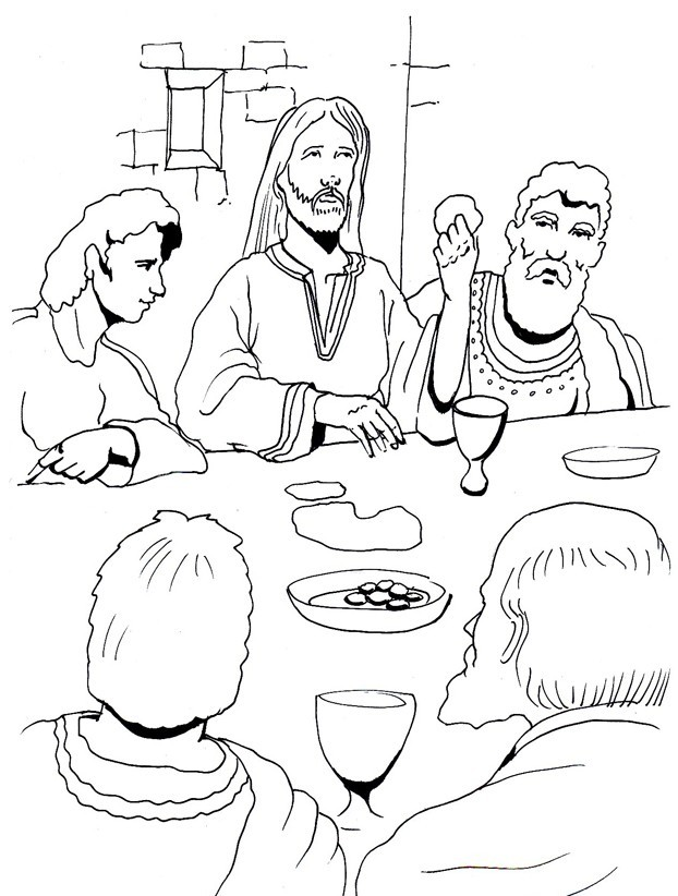 lords supper coloring pages - photo#33