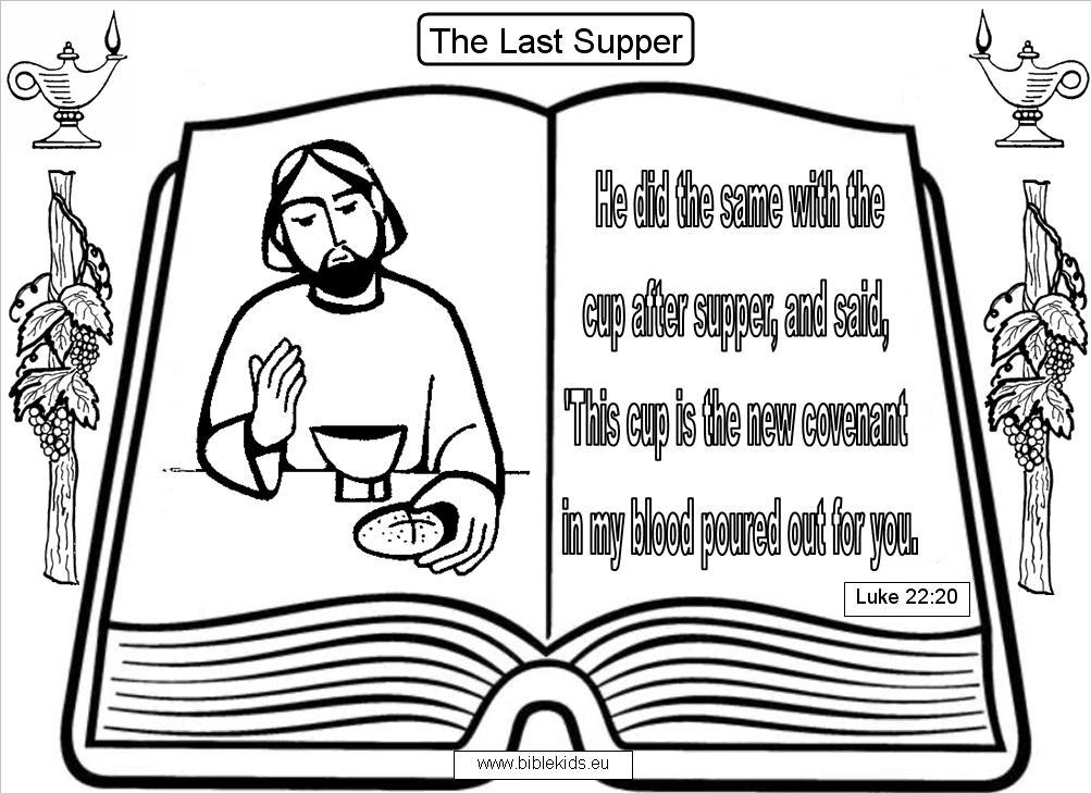 lords supper coloring pages - photo#21