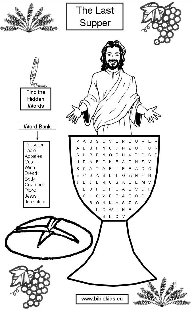 Lord's Prayer Word Search Puzzles .