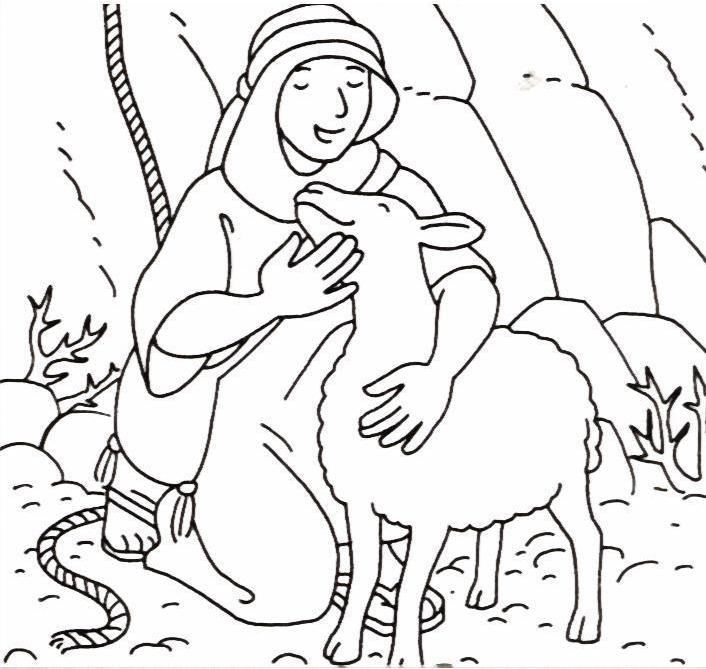 lost sheep parable coloring pages - photo#10