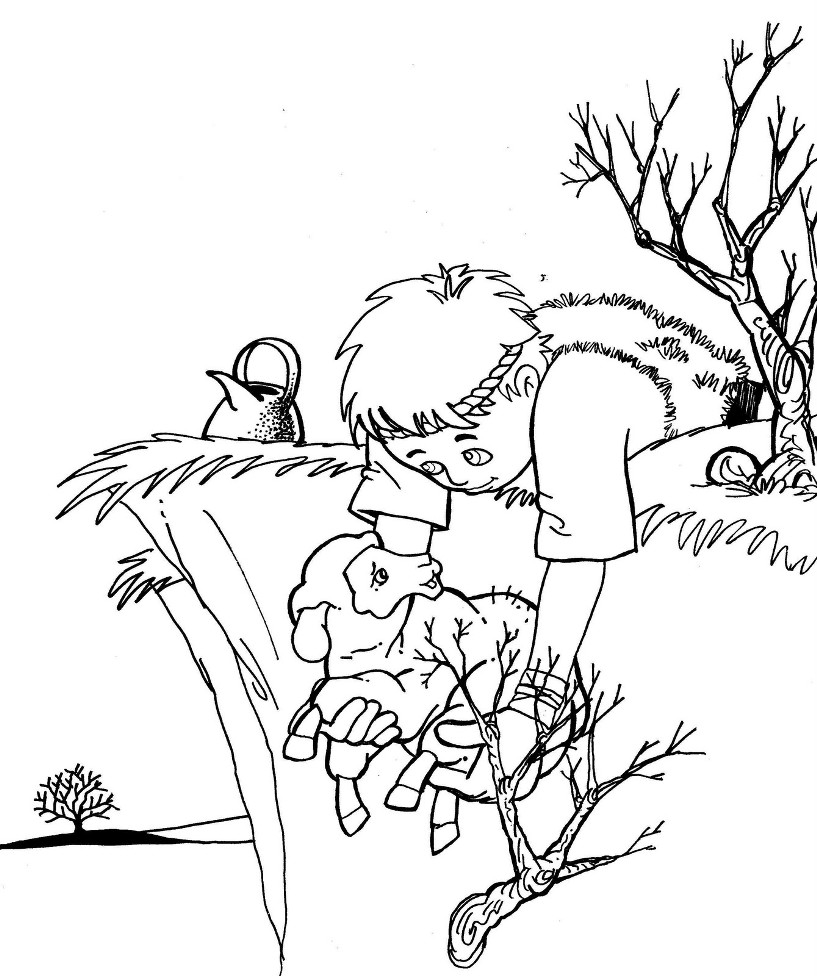 lost sheep parable coloring pages - photo#12