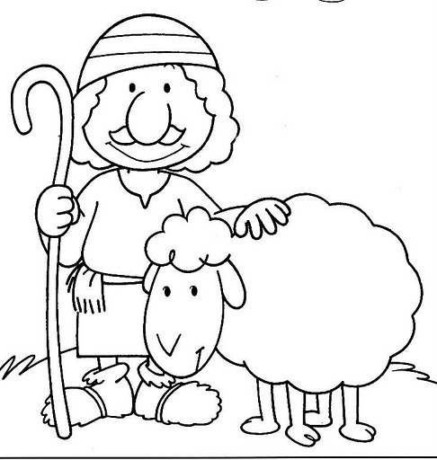 The Lost Sheep Colouring Pages