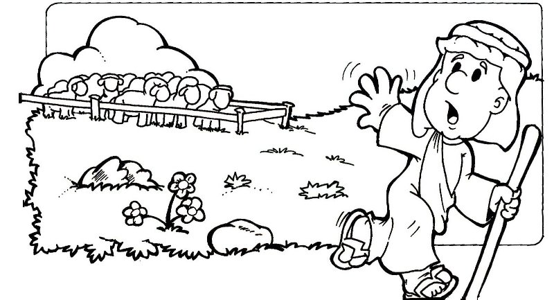 lost sheep parable coloring pages - photo#27
