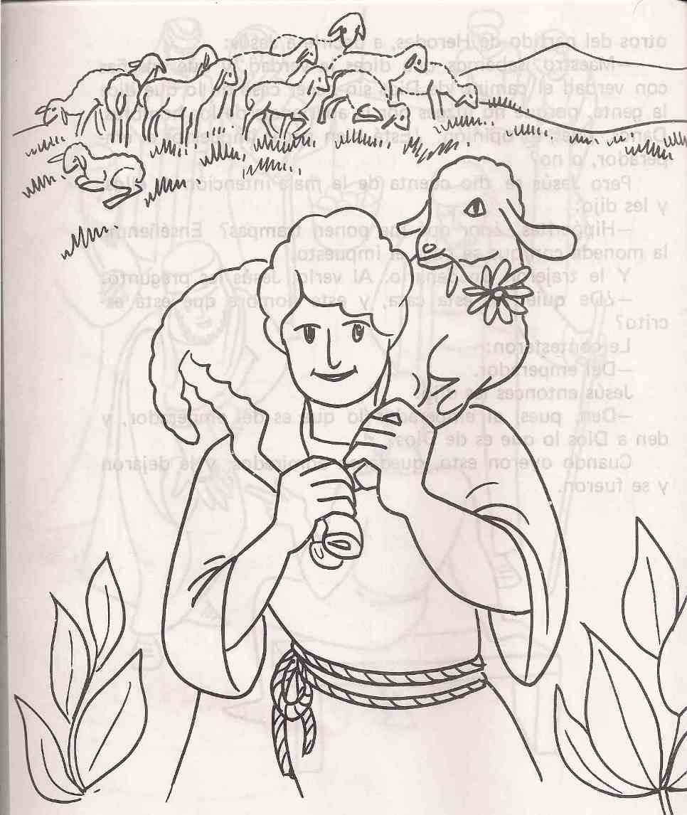 lost sheep parable coloring pages - photo#26