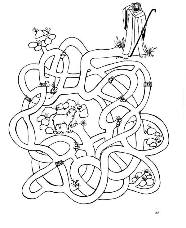 Jesus With Sheep Coloring Pages