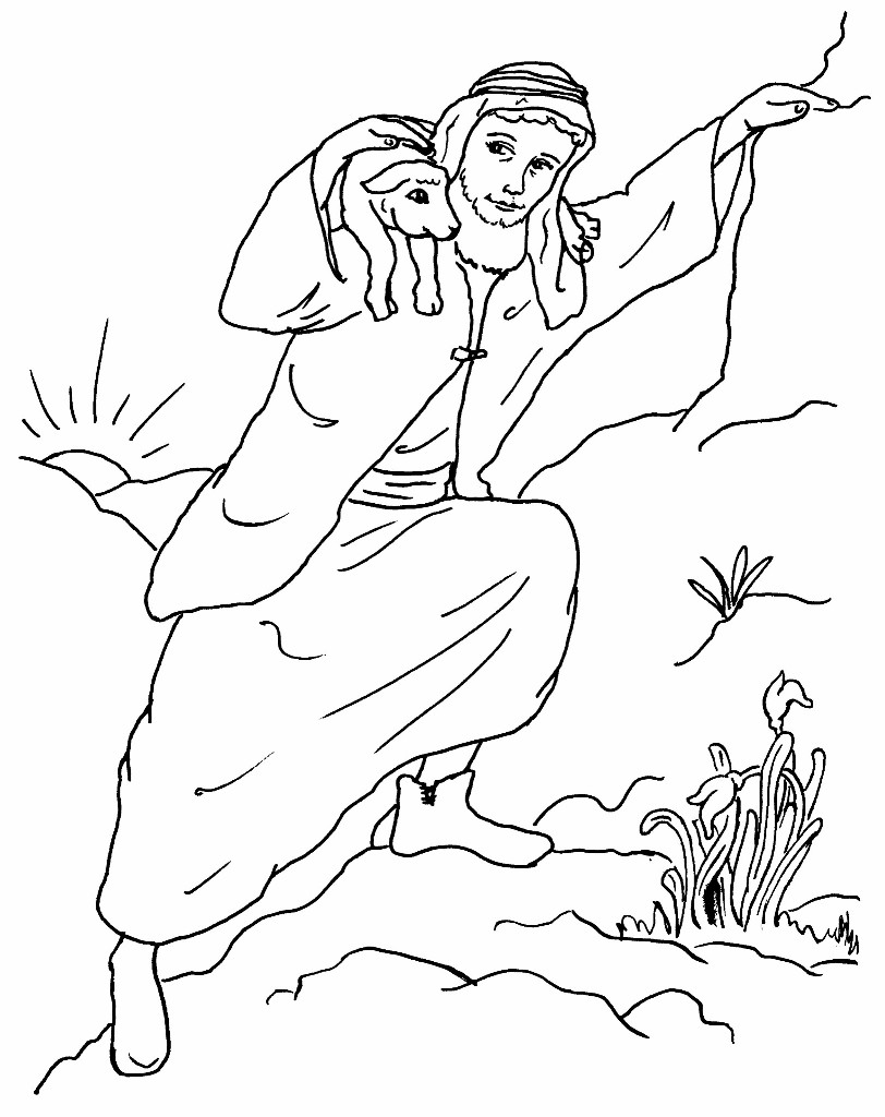 lost sheep parable coloring pages - photo#23