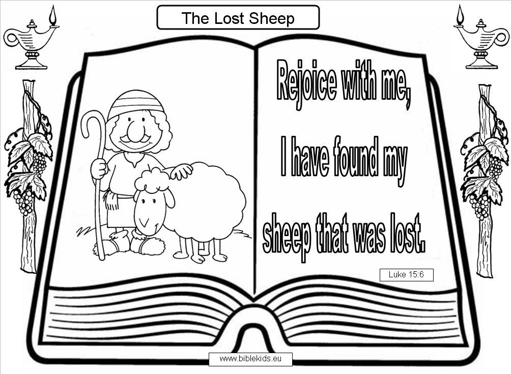 Lost Sheep Coloring Pages Sheep Coloring Pages For Kids Coloring