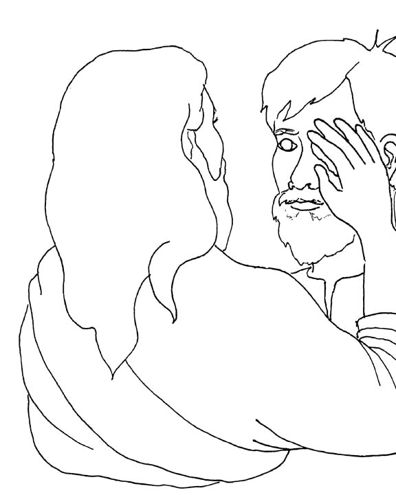 Crafts Bartimaeus Blind Bartimaeus Coloring Page