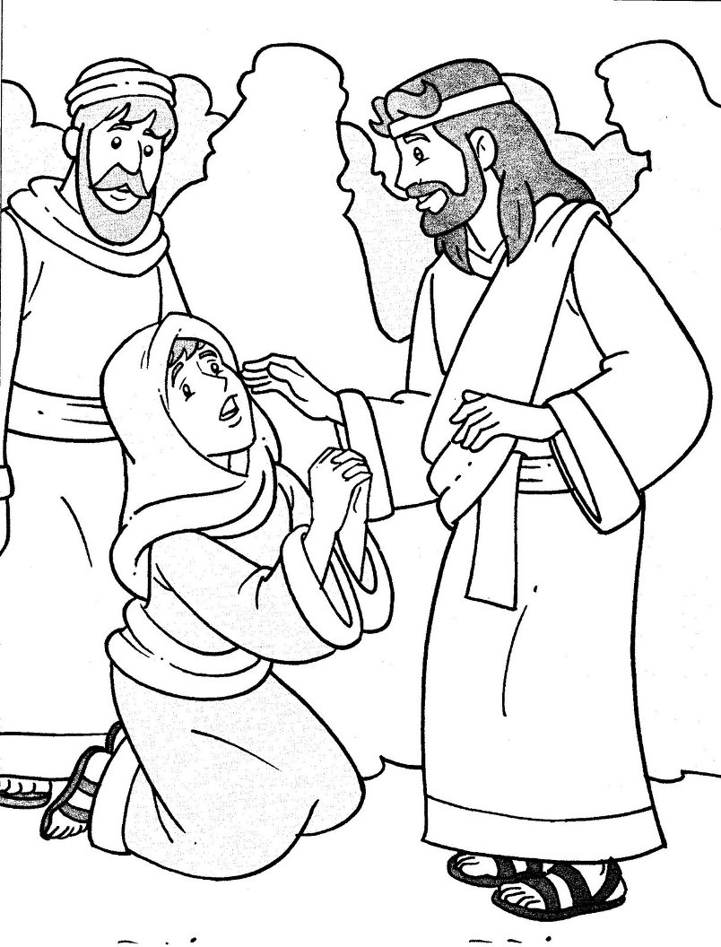 Free Coloring Pages Of Jesus Heals The Blind