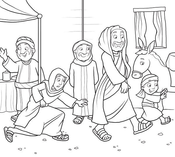 Jesus' Ministry Online Coloring Book - First-School Preschool