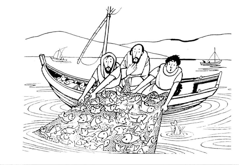 Miraculous Catch Of Fish Coloring Pages