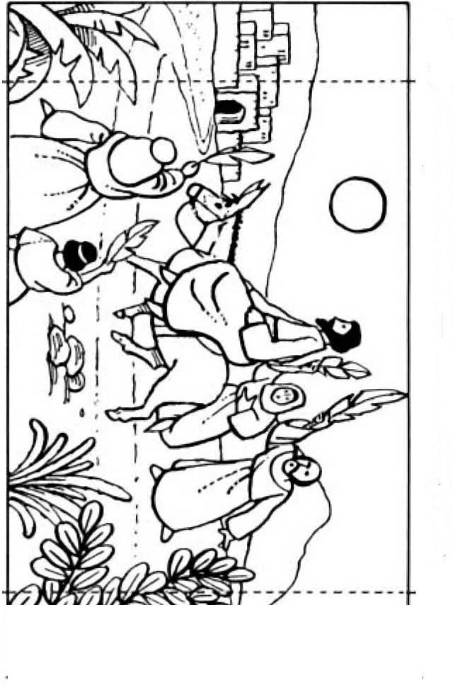 Palm sunday triumphal entry into jerusalem for Palm sunday coloring page