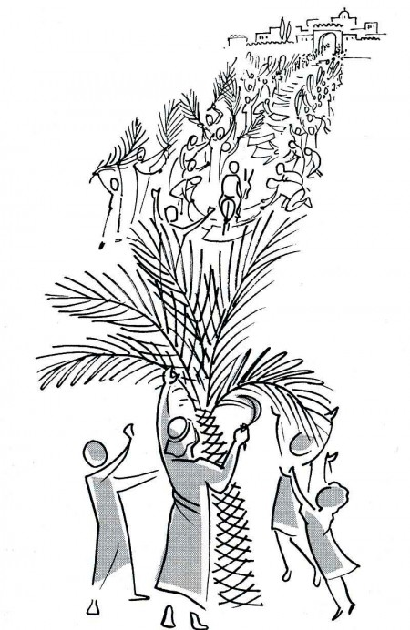 great coloring pages about palm sunday with palm sunday