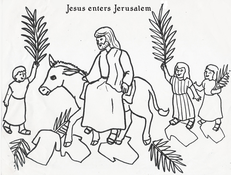 palm sunday donkey coloring pages - photo#20