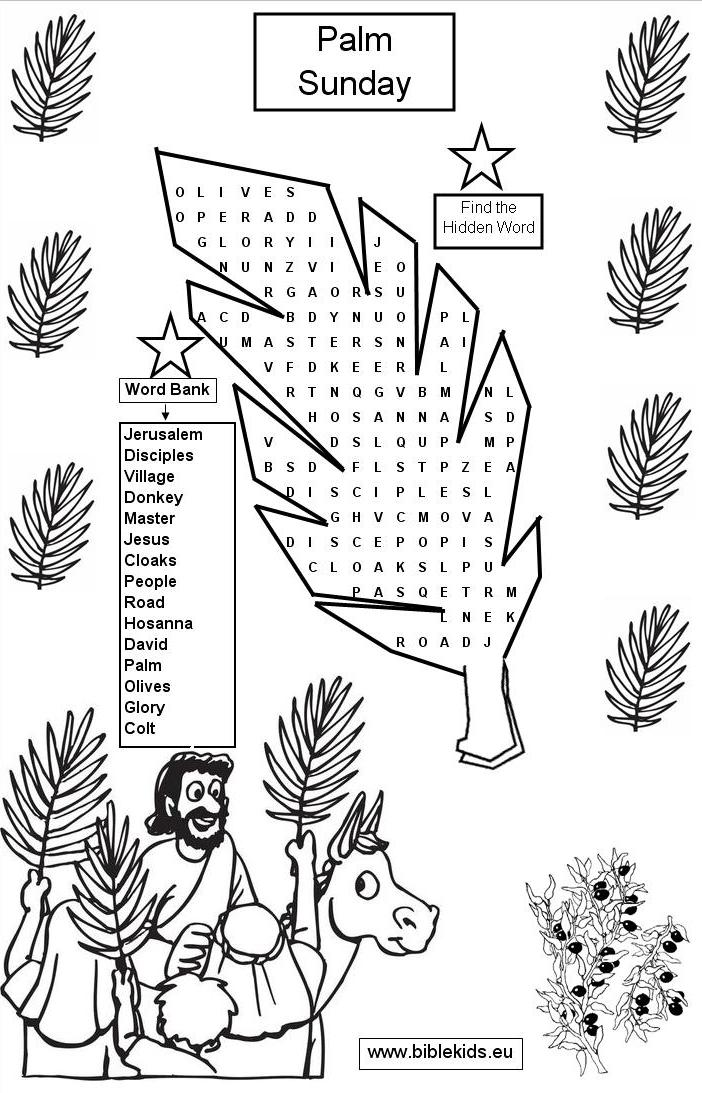 palm sunday coloring pages printable - photo#33