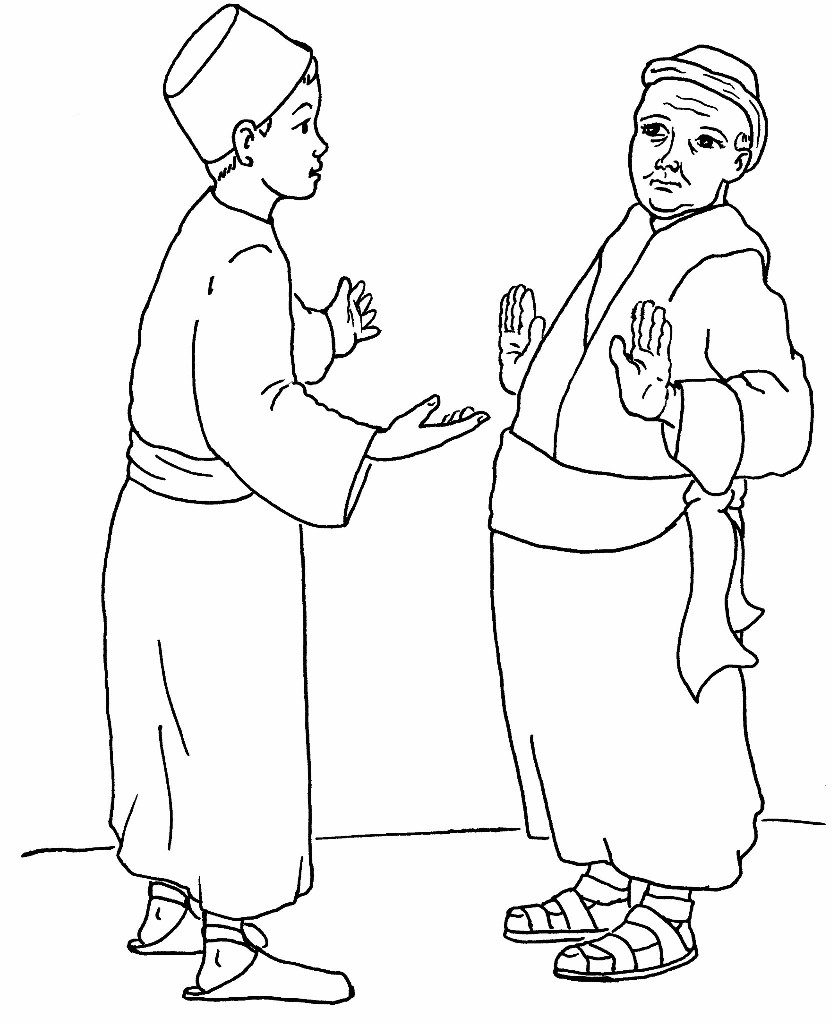 The great banquet for Parable of the wedding feast coloring page