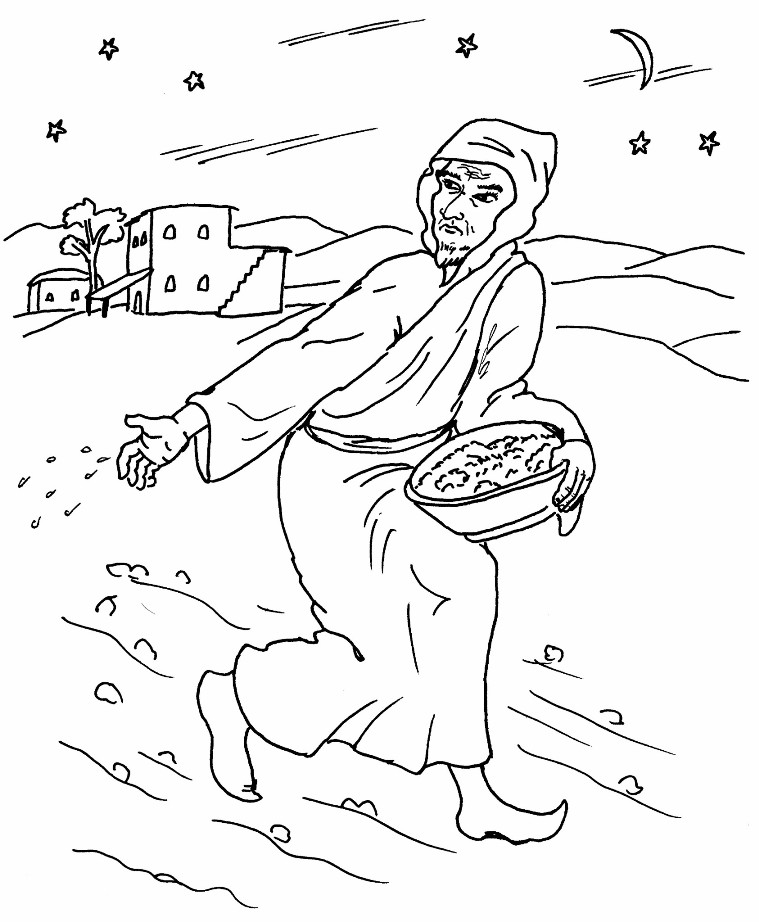 Free Coloring Pages Of Parable Of The Vineyard Workers Parables Of Jesus Coloring Pages