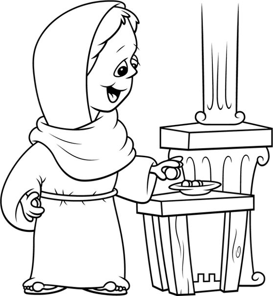 church offering coloring pages - photo#2