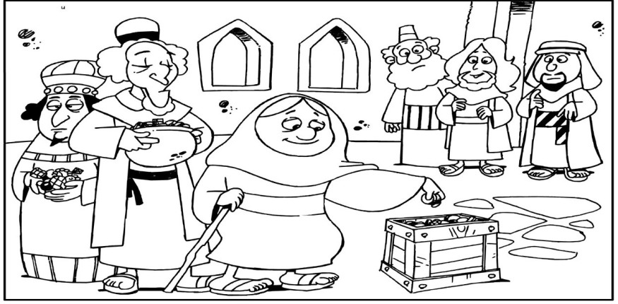 church offering coloring pages - photo#13