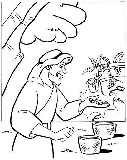 naboths vineyard coloring pages - photo#4
