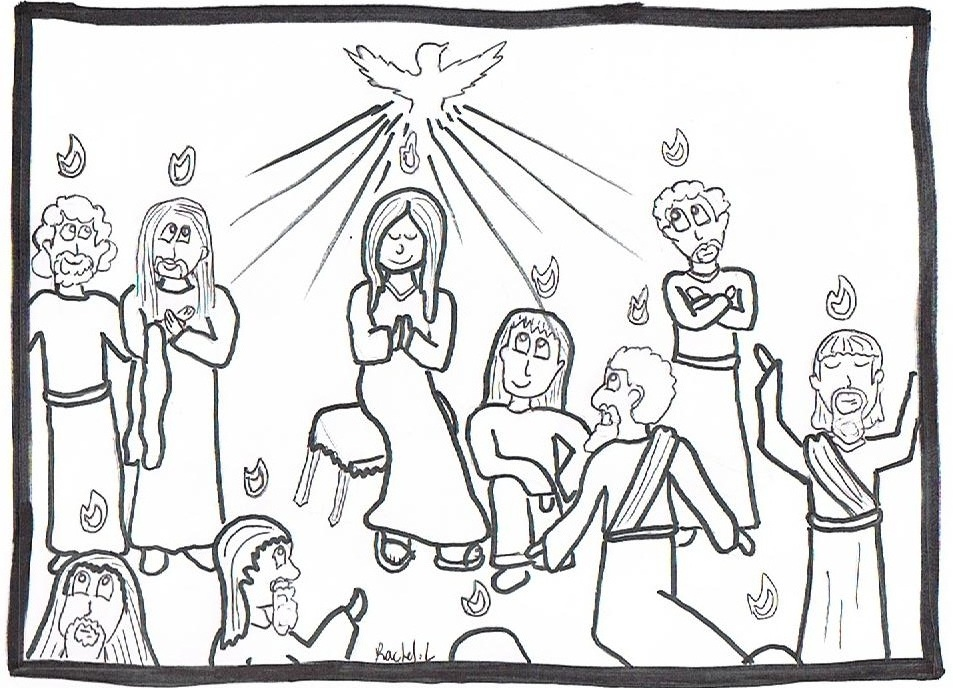 Pentecost for Pentecost coloring pages