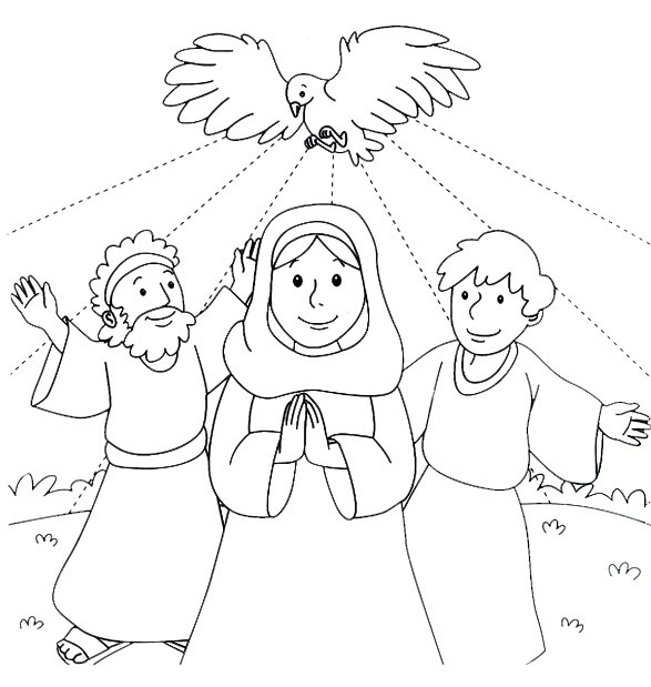 Holy Spirit Pentecost Coloring Pages