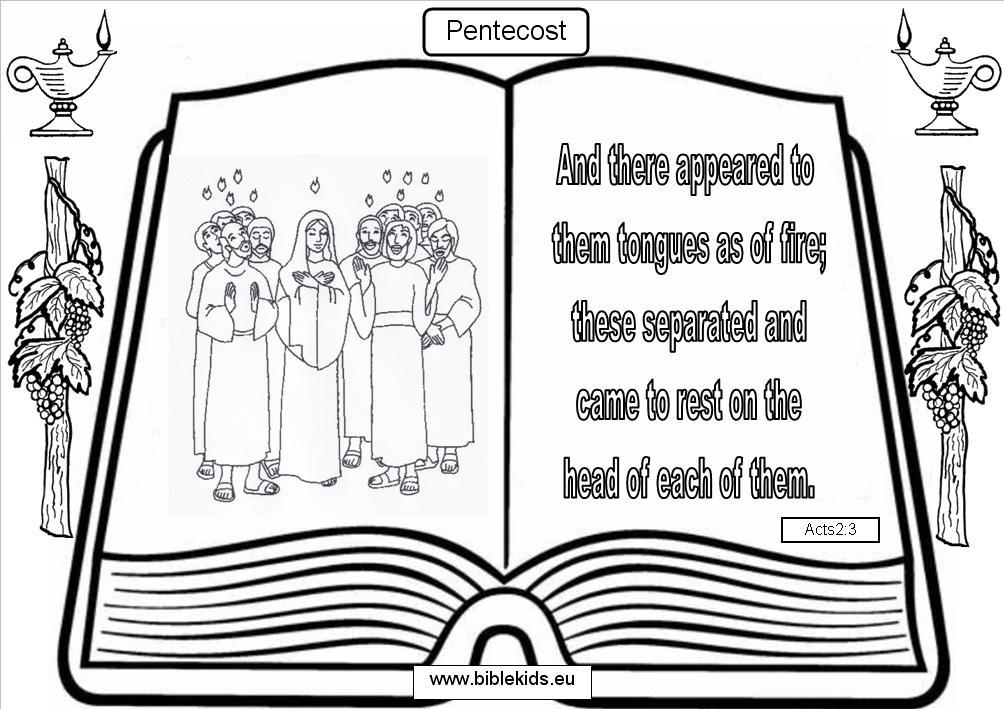 The church year in the home pentecost for Pentecost coloring pages