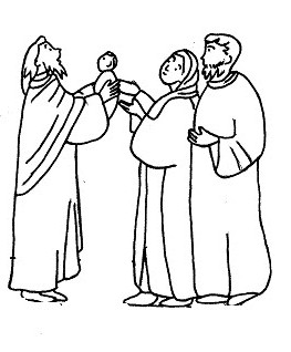 candlemas coloring pages | Presentation Of Baby Jesus At Temple Coloring Page ...