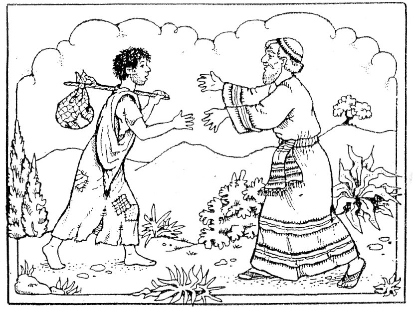 prodigal son coloring pages Parable of the Prodigal Son coloring pages | The Prodigal Son prodigal son coloring pages