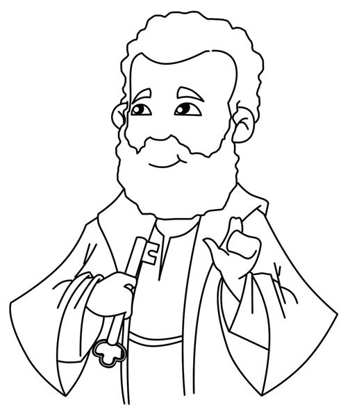 simon peter coloring pages - photo#4