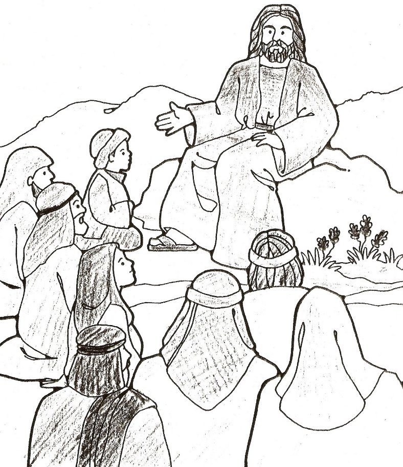 Sermont on the Mount coloring pages  The Beatitudes Sermon