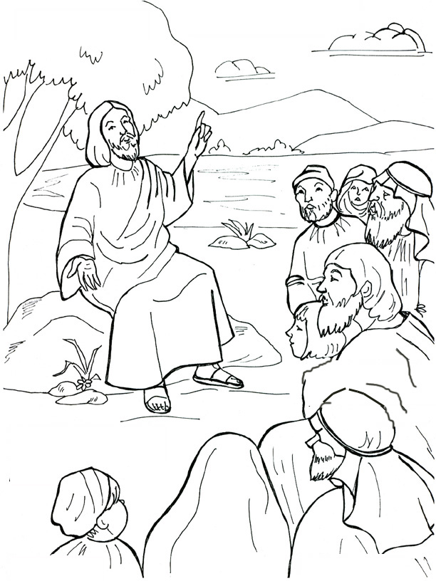coloring pages beatitudes - photo#15