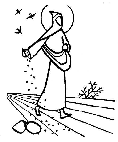 coloring pages seeds soil - photo#34